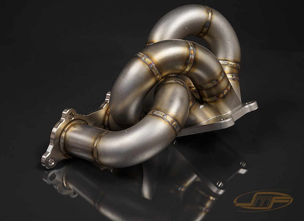 Exhaust Manifold - JMF Twin Scroll Stock Replacement Exhaust Manifold (Evo  8/9)