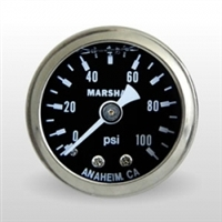 Gauge - Marshall Fuel Pressure (0-100PSI)