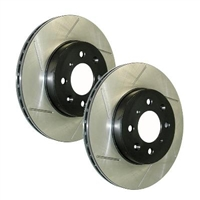 Rotors - StopTech Slotted Rear Pair (Subaru WRX/STi 2005-2007)