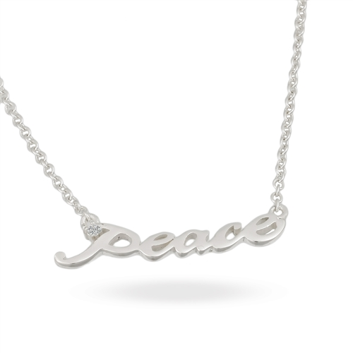 Sterling Silver CZ With 2 Extension Necklace 16