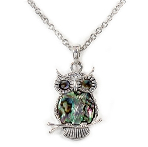 Paua(Abalone)Shell Necklace - OWL inspired Design