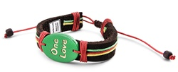 Genuine Leather Bracelet - One Love LB-ONE-LOVE-N
