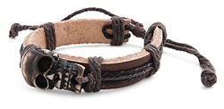 Genuine Leather Bracelet - SKULL