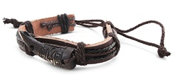 Genuine Leather Bracelet - Horn