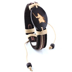 Trendy Celeb Genuine Leather Bracelet - Samurai (One Size Fits All).