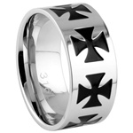 Steel Ring Ring - Iron Cross