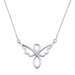 Silver Italian Necklace - Angel