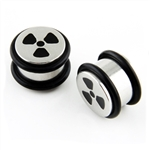 Steel Plug Ear Plug Stainless Steel surgical rings silver body jewelry