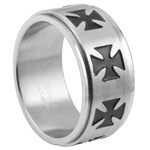 Iron Cross Spinner Ring - SR-478