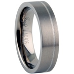 Titanium Ring w/ Silver Inlay