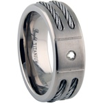 Titanium Diamond Ring