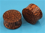 "double flare palm wood ear plug design gauge organic Body Jewelry 1"" (INCH) 7/8"
