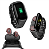 M1XX Fitness Watch & Wireless Earbuds by Indigi [Heart Rate, Blood Pressure, Pedometer] - Magnetic Charge - BT 5.0, Great for Fitness & Studying (Black)