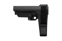 SB Tactical SBA3 Stabilizing Brace w 5 Position Buffer Tube - BLACK