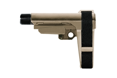 SB Tactical SBA3 Stabilizing Brace w 5 Position Buffer Tube - FDE