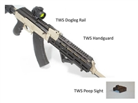 TWS GEN3 RAILSET DOGLEG RAIL HANDGUARD AND SIGHT #33010 AK47 TEXAS WEAPON SYSTEMS