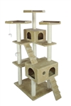 Cats sleeping on their perches of the largest cat tree furniture available