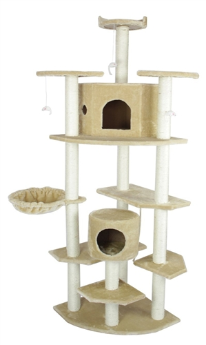 Cat Towers And Houses Tree Available In 4 Faux Fur Patterns To Suit Your Decor