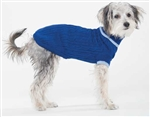 Fashion Pet Classic Cable Sweater in Coblat Blue Medium