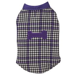 X-Small Reversible Houndstooth and Puffy Purple Vest