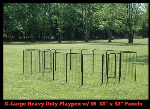 Extra Large Heavy Duty Play Pen 32 Inches Tall