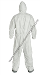 8.697-155.0 Maxshield Coveralls with Hood and Elasticized Boots Size Large
