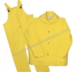 8.704-666.0 Heavy Duty Vinyl Safety Rain Suit 2 Piece, Size Large