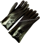 8.704-669.0 Chemical Resistant Cotton Lined Black PVC Work Glove