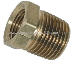 "8.705-129.0 Brass Reducing Bushing 3/8"" MPT x 1/4"" FPT"