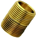 "8.705-201.0 Brass 1/8"" MPT x Close Pipe Nipple"