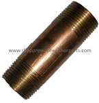 "8.705-213.0 Brass 3/8"" MPT x 2-1.2"" Pipe Nipple"