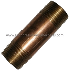 "8.705-217.0 Brass 1/2"" MPT x 1-1/2"" Pipe Nipple"