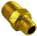 8.705-225.0 Brass Hex Reducing Nipple 1/4 x 1/8 MPT