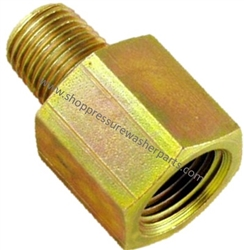 "8.705-360.0 High Pressure Zinc Plated 1/2"" MPT x1/2"" FPT Steel Pipe Adapter 5000 PSI"