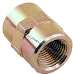 "8.705-364.0 High Pressure Zinc Plated 1/4"" FPT Hex Coupling 6000 PSI"