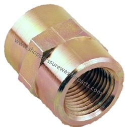 "8.705-367.0 High Pressure Zinc Plated 1/2"" x 3/8"" Hex Pipe Reducing Coupling 5000 PSI"