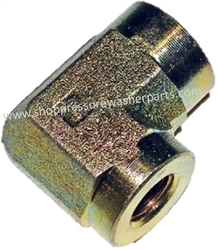 "8.705-398.0 High Pressure Zinc Plated 1/2"" FPT x 3/4"" FPT Steel Reducing Elbow 4000 PSI"