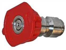 Quick Connect Pressure Washer Nozzle, Red 0 Degree Spray Pattern, Size 7.5