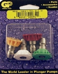 8.708-713.0 Quick Connect Pressure Washer Spray Tip Nozzle 4-Pack Set, Size 4.0 Nozzle