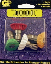 8.708-714.0 General Pump Quick Connect Power Washer Spray Tip Nozzle 4-Pack Set, Size 4.5
