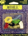 Pressure Washer Quick Connect Nozzle 4-pack, Size 6.0, includes red, yellow, green and white nozzles