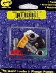 Pressure Washer Quick Release Nozzle Set, Size 4.0, includes red, yellow, green, white and black nozzles