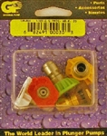 Power Washer Quick Release Spray Tip Nozzles, Size 6.5,  includes red, yellow, green, white and black nozzles