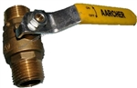 "8.709-251.0 Brass Ball Valve 600 PSI, 1/4"" M Inlet and 1/4"" M Outlet"