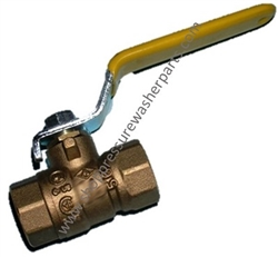 "8.709-256.0 Brass Ball Valve 600 PSI, 1/2"" F Inlet and Outlet"