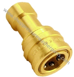 "8.709-560.0 Brass Double Shut Off Two Way Coupler 3/8"" FPT"