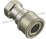 "8.709-561.0 Stainless Steel Double Shut Off Two Way Coupler 1/2"" FPT"