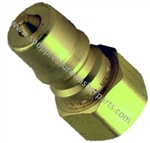 "8.709-581.0 Two Way Double Shut Off Coupler Plug 1/4"" FPT"