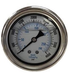 8.710-259.0 Stainless Steel Back Mount Pressure Gauge 4000 PSI