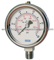 8.710-270.0 Bottom Mount Stainless Steel Pressure Gauge 100 PSI